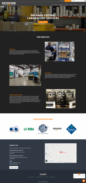 Keystone Package Home page